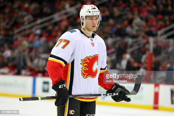 Calgary Flames center Mark Jankowski skates during the third period of the National Hockey League game between the New Jersey Devils and the Calgary...
