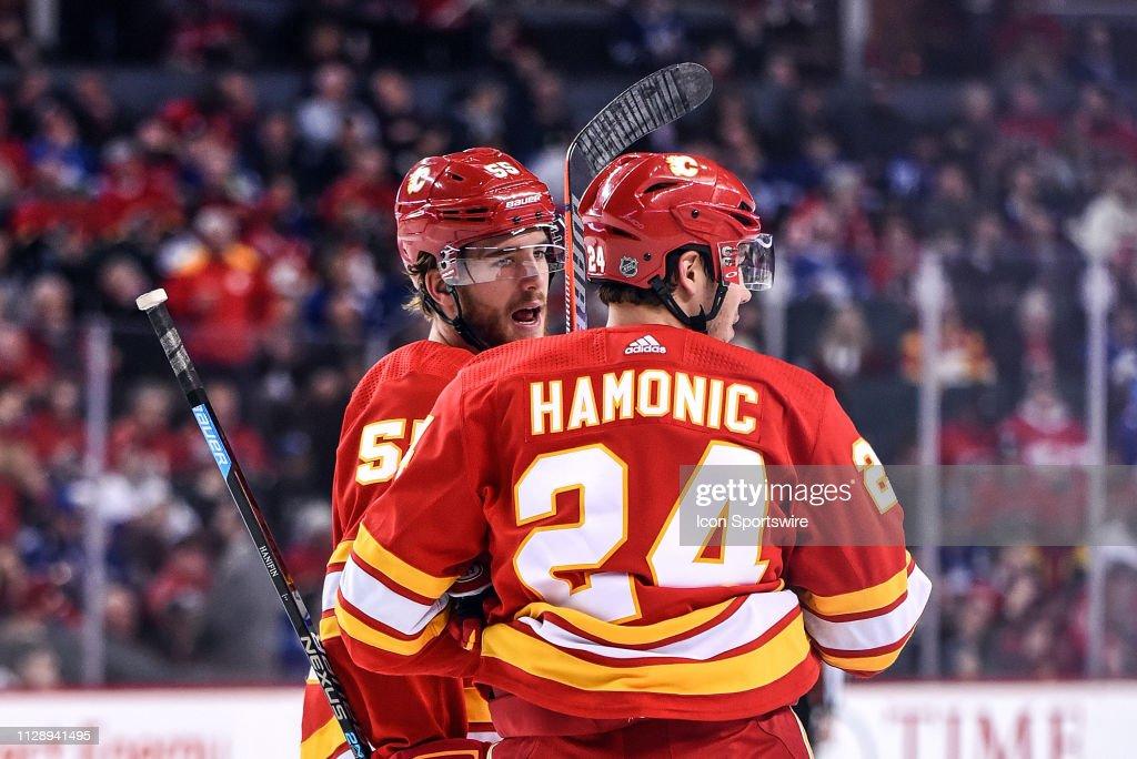 NHL: MAR 04 Maple Leafs at Flames : News Photo