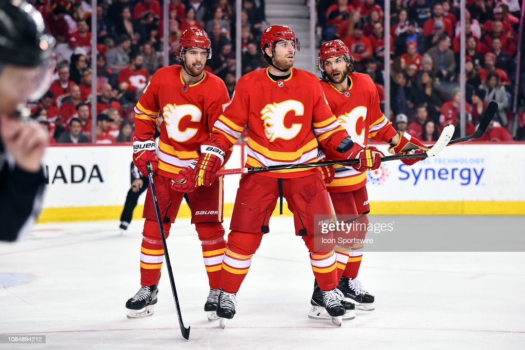 NHL: JAN 18 Red Wings at Flames : News Photo