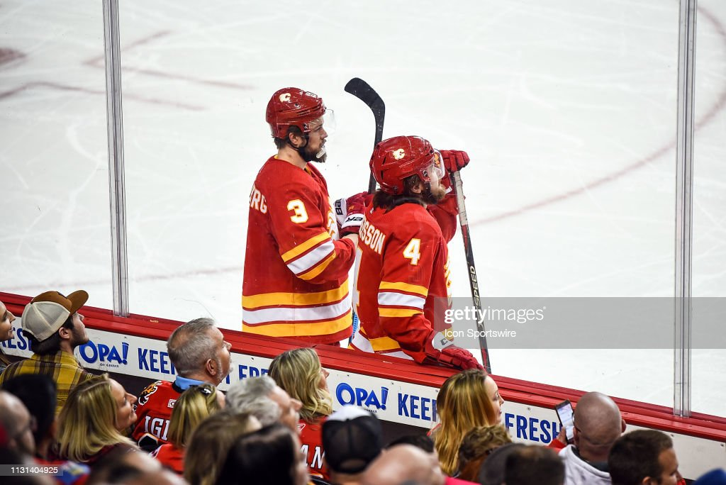 NHL: MAR 15 Rangers at Flames : News Photo