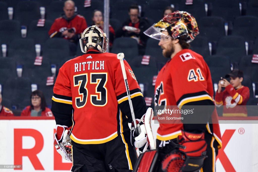 NHL: MAR 19 Blue Jackets at Flames : News Photo