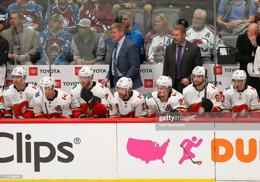 NHL: APR 15 Stanley Cup Playoffs First Round - Flames at Avalanche : News Photo