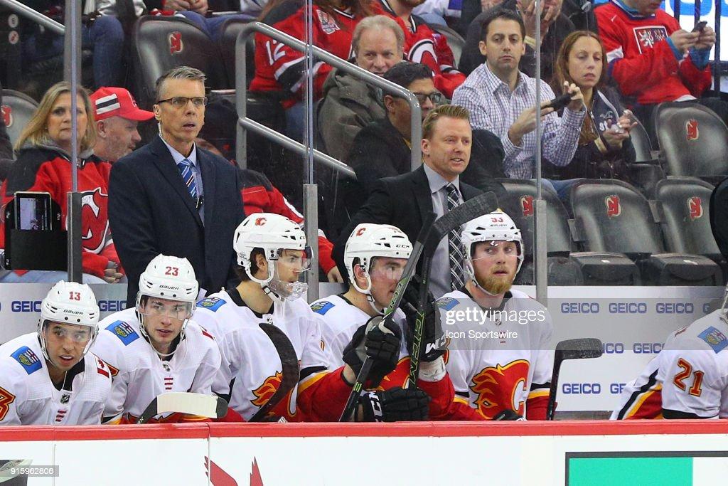 NHL: FEB 08 Flames at Devils : News Photo