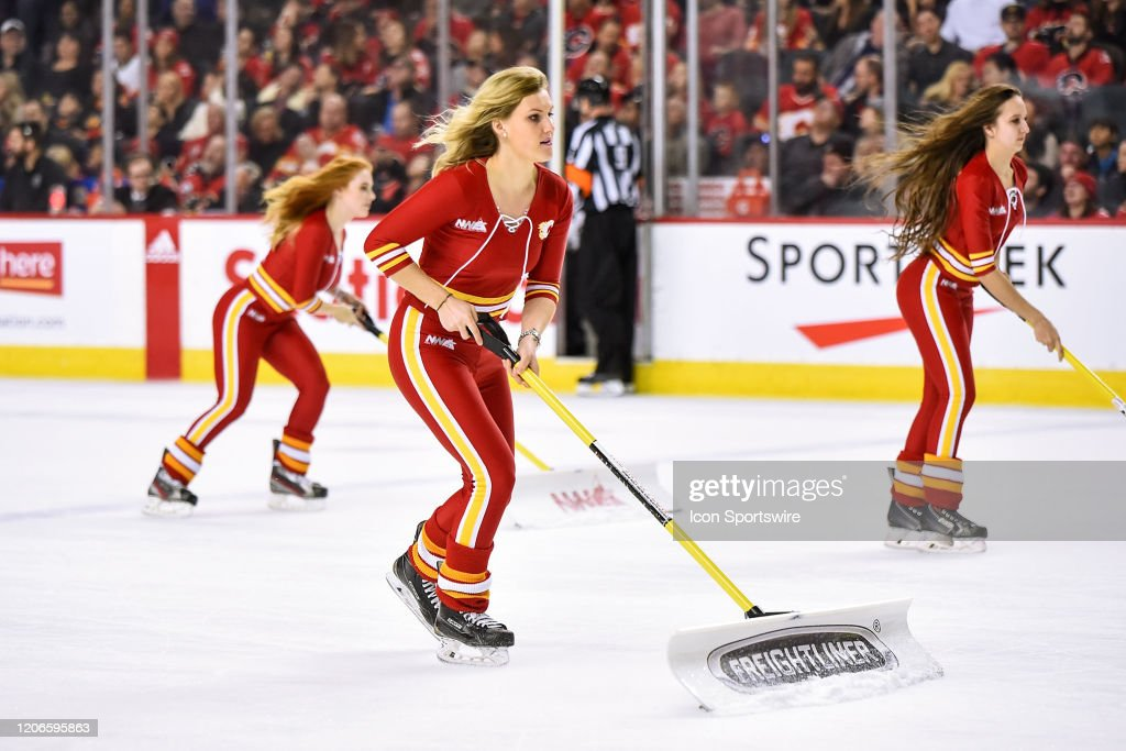 Calgary Flames Ice Girls Clean The Ice During The Second Period Of An News Photo Getty Images Portugal upcoming matches live stream. 2