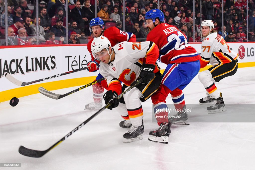 NHL: DEC 07 Flames at Canadiens : News Photo