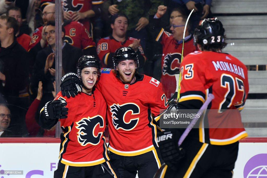 NHL: NOV 19 Golden Knights at Flames : News Photo