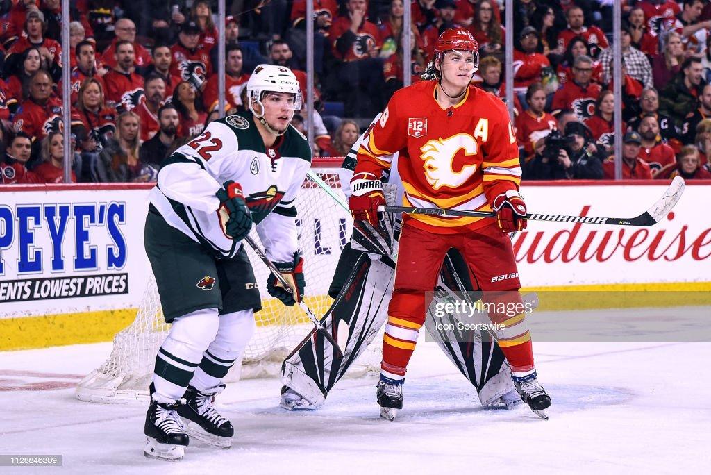 NHL: MAR 02 Wild at Flames : News Photo