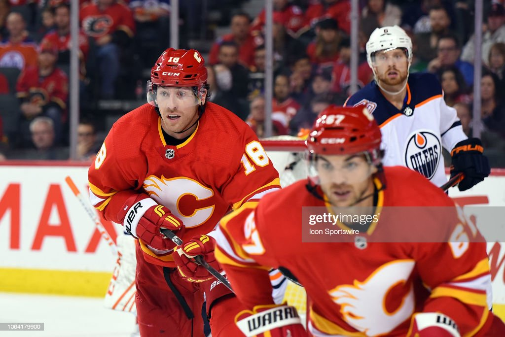 NHL: NOV 17 Oilers at Flames : News Photo