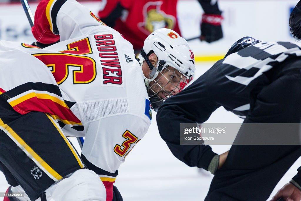 NHL: MAR 09 Flames at Senators : News Photo
