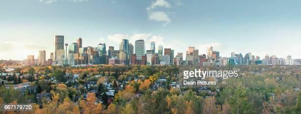 Calgary skyline no Mountains