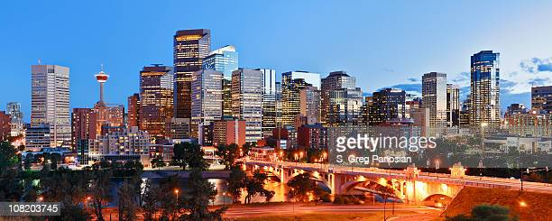 calgary skyline - calgary stock pictures, royalty-free photos & images