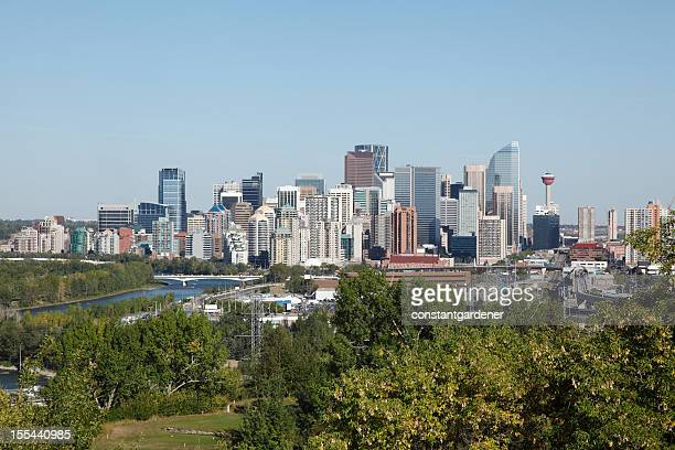 Calgary Skyline With Bow River And Golf Course