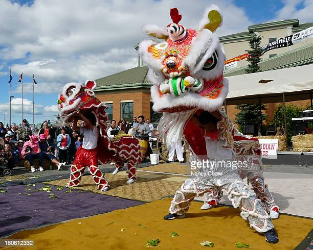 Calgary Stampede breakfast hosted by the Executive Royal Inn Multicultural entertainment was featured and I really enjoyed the Lion Dance