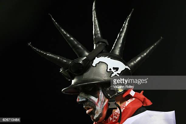 Calgary Stampeders fan during the 104th Grey Cup Championship Game against the Ottawa Redblacks at BMO Field on November 27, 2016 in Toronto, Canada.