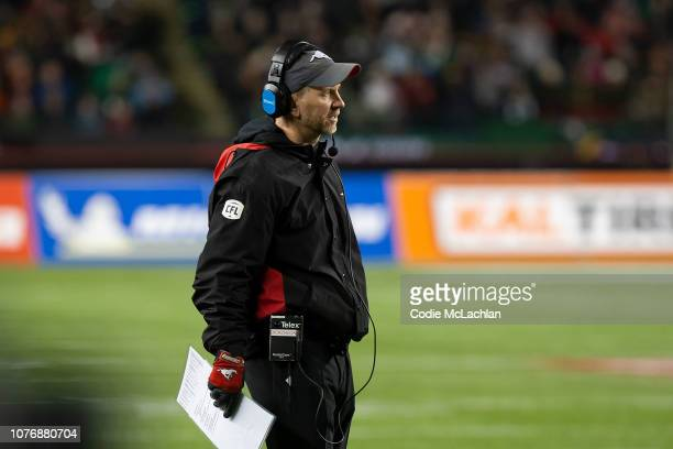 Calgary Stampeders head coach Dave Dickenson during the game against Ottawa Redblacks during the Grey Cup at Commonwealth Stadium on November 25,...
