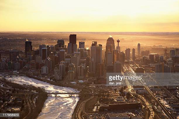calgary sunrise - calgary stock pictures, royalty-free photos & images