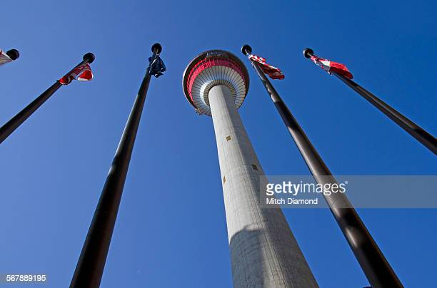calgary tower - armenian flag stock pictures, royalty-free photos & images