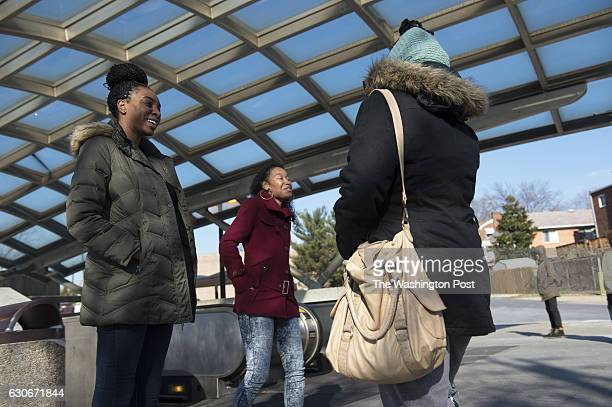 DECEMBER 20 Cali Edmonds and Shalesha Majors with the Women's Collective reach out to women near Benning Road Metro in Washington DC about HIV...