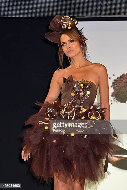 Cali Morales attends the 'Salon Du Chocolat Chocolate Fair 20th Anniversary' At the Parc des Expositions Porte de Versailles on October 28 2014 in...