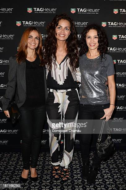 Cali Morales Laurence Roustandjee and Aida Touihri attend the Opening of the TAG Heuer New Boutique Followed By An Evening Celebrating 50 years of...