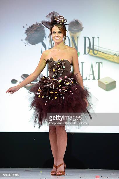 Cali Morales walks the runway during the 'Salon Du Chocolat' Fashion Show on October 29 2014 in Paris France