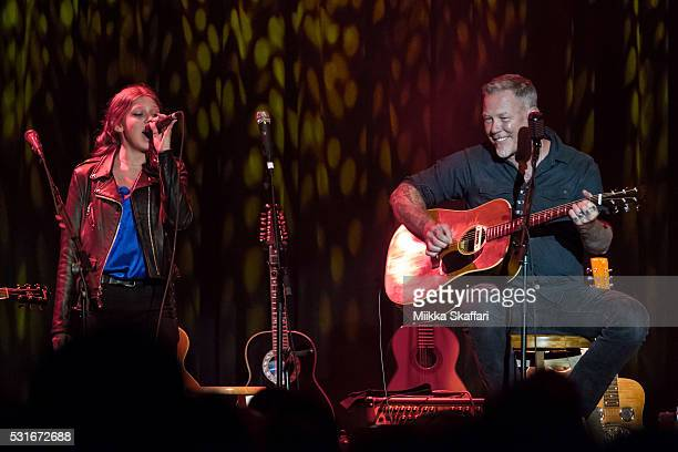Cali Tee Hetfield and James Hetfield performs at 3rd annual Acoustic4aCure benefit concert at The Fillmore on May 15 2016 in San Francisco California