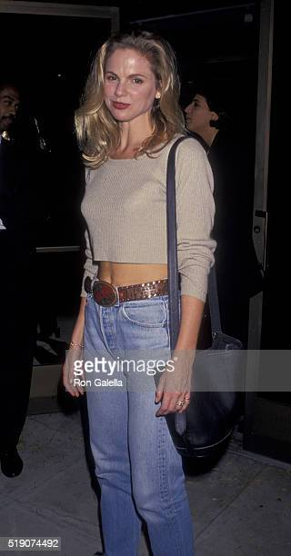 Cali Timmins attends the world premiere of 'Malice' on September 29 1993 at the Academy Theater in Beverly Hills California