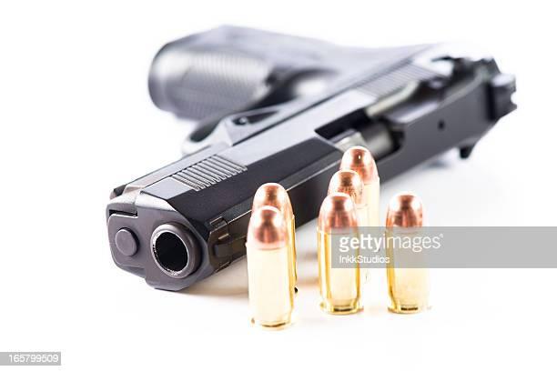 remoção de 0,45 mão arma e munição - armamento imagens e fotografias de stock