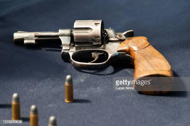 38 caliber revolver - gun stock pictures, royalty-free photos & images