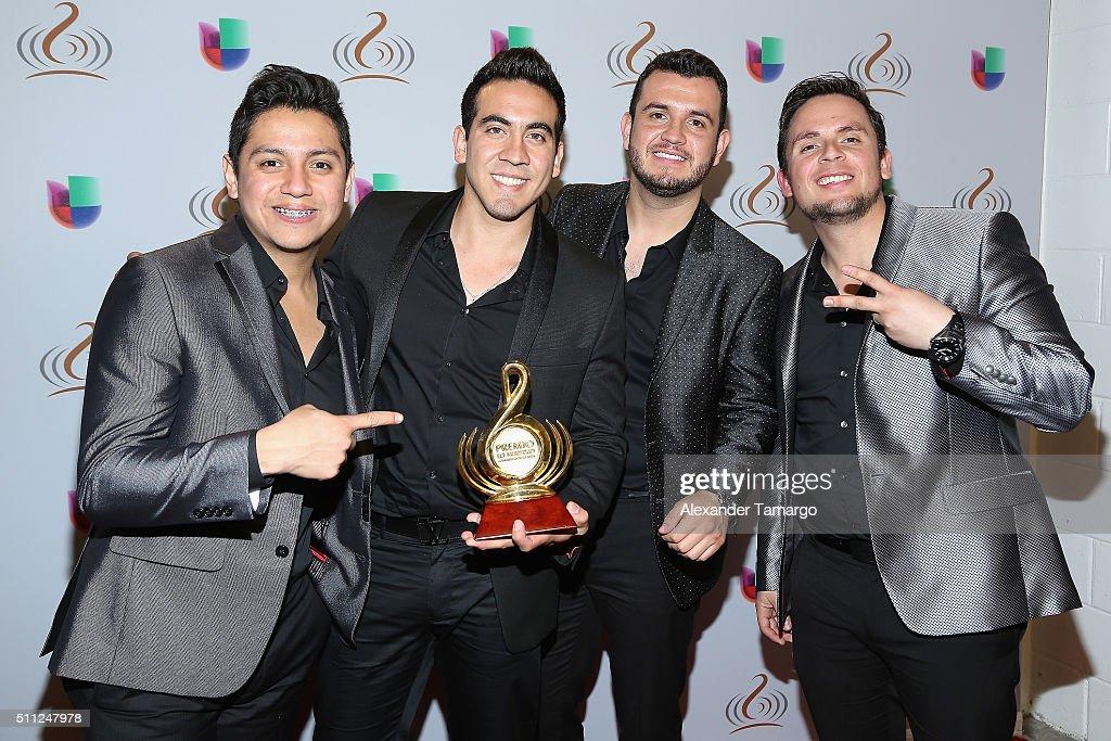 Calibre 50 attends Univision's 28th Edition of Premio Lo Nuestro A La Musica Latina on February 18, 2016 in Miami, Florida.