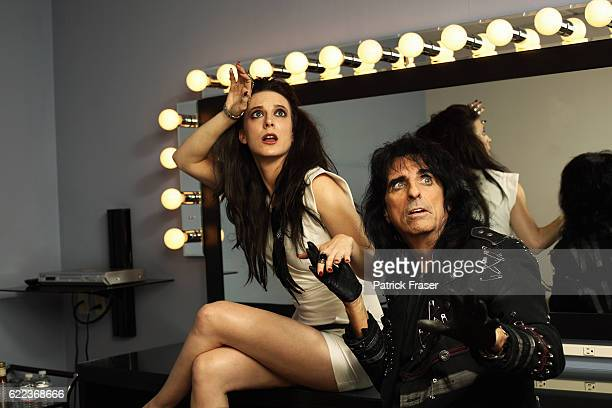 Calico Cooper and her father Alice Cooper backstage at <The Tonight Show with Jay Leno>