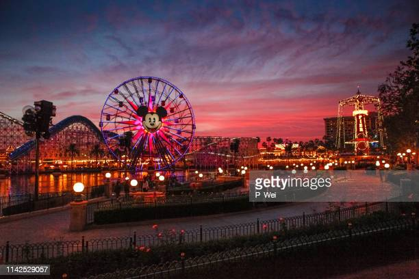 california adventure at sunset. - disney stock pictures, royalty-free photos & images