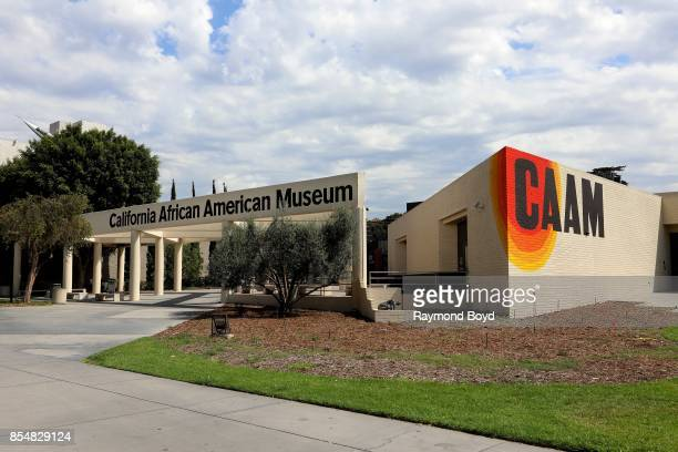 California African American Museum designed by architects Jack Haywood and Vince Proby in Los Angeles California on September 11 2017 MANDATORY...