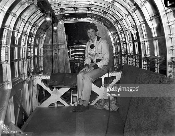 California: Amelia And Her Flying Laboratory. The trim, low-wing transport plane purchased by the Amelia Earhart Fund for aeronautical research as a...
