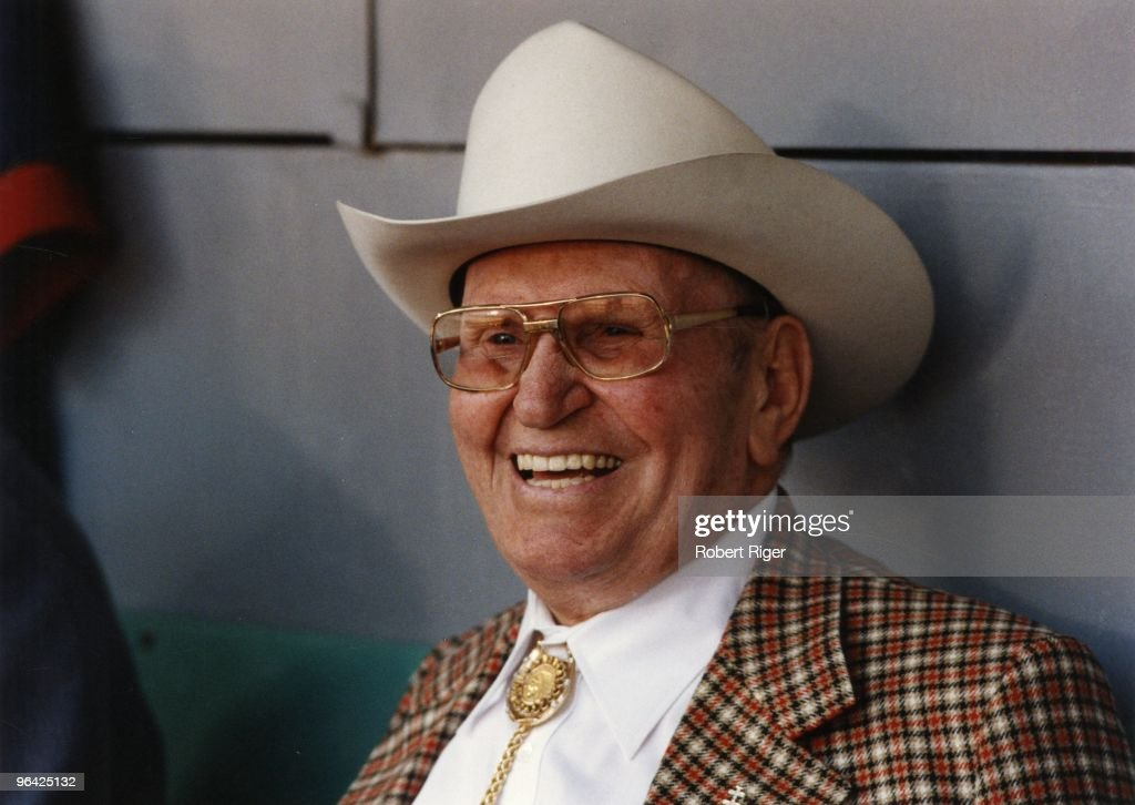 California Angels owner Gene Autry looks on in an undated photo.