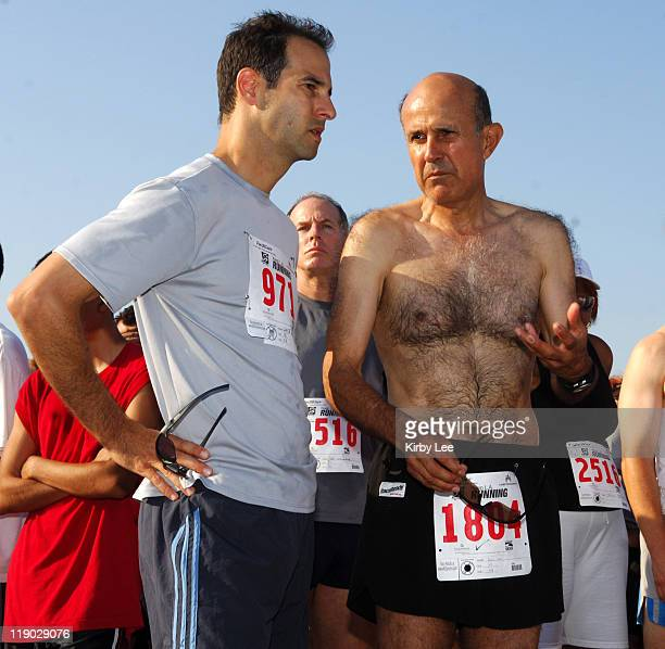California Assembly member Lloyd Levine and Los Angeles County Sheriff Lee Baca at the 13th annual Keep L.A. Running 5 and 10K at Dockweiler Beach in...