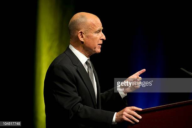 California attorney general and Democratic gubernatorial candidate speaks during a debate with Republican gubernatorial candidate and former eBay CEO...