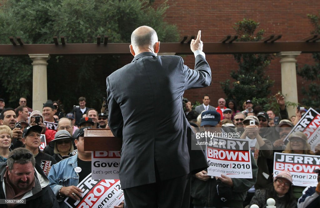 Democratic Gubernatorial Candidate Jerry Brown Makes Final Push Through State