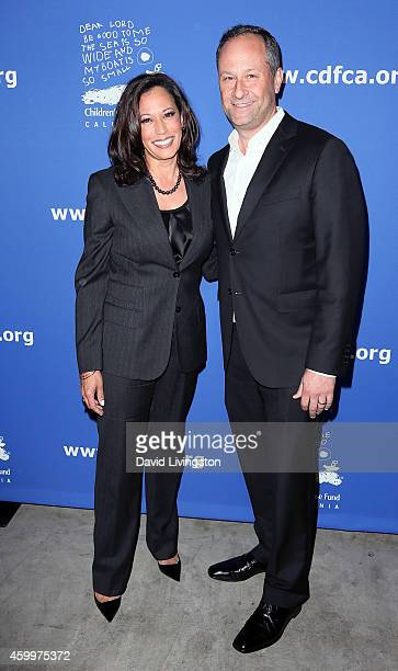California Attorney General La Harris And Husband Lawyer Douglas Emhoff Attend The Children S Defense Fund 24th
