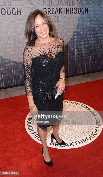 California Attorney General Kamala Harris arrives at the Breakthrough Prize Inaugural Ceremony at NASA Ames Research Center on December 12, 2013 in...