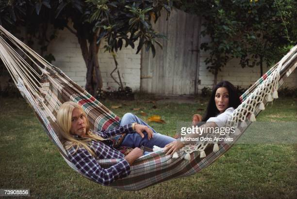 1977 California Beverly Hills Cher with Gregg Allman