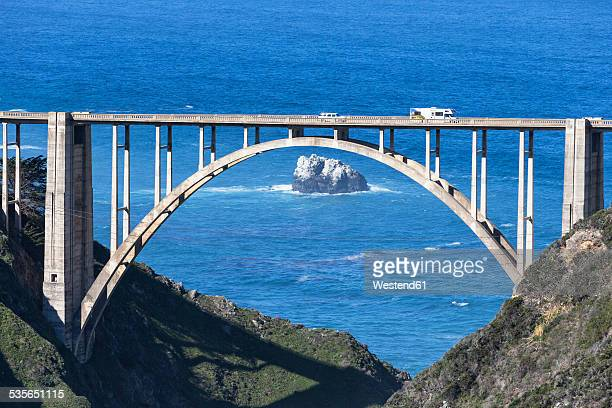 USA, California, Big Sur, Pacific Coast, National Scenic Byway, Bixby Creek Bridge, California State Route 1, Highway 1