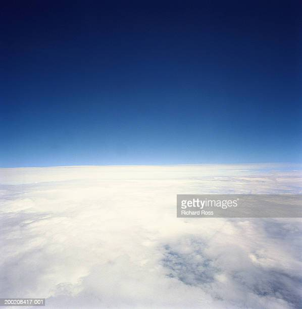 USA, California, blue ocean and clouds from 2,000 feet, aerial view