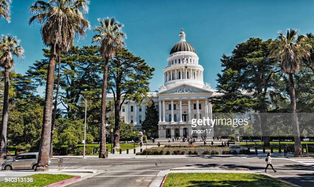 california capitol with visitors - sacramento stock pictures, royalty-free photos & images