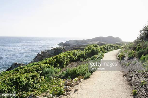 USA, California, Carmel, Big Sur, Empty path along coast