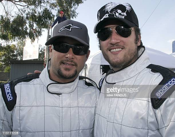 California Cart Trophy 2005 'Art of Cart' event in Long Beach United States on November 04 2005 Cris Judd and Alex Quinn at the California Cart...