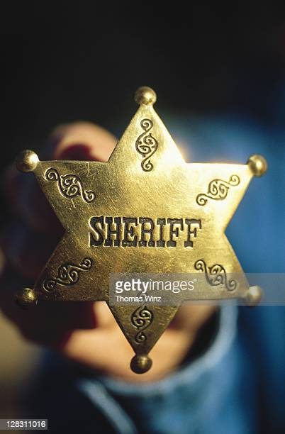 california, close-up of a sheriff star badge - sheriff stock pictures, royalty-free photos & images