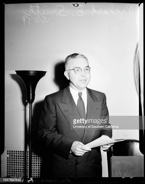 California club luncheon 10 May 1954 Reverend Richard B Smith of New York CityRJ Wig of San FranciscoCaption slip reads 'Photographer Miller...