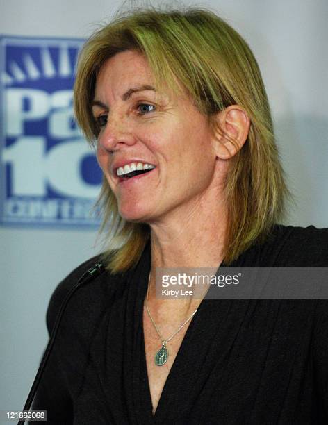 California coach Joanne Boyle at Pacific10 Conference Women's Basketball Media Day at the HP Pavilion in San Jose Calif on Tuesday November 7 2006