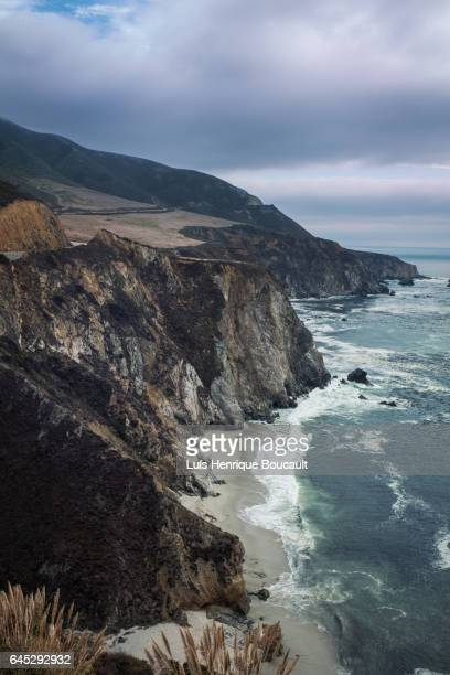 california coast and route 1 - billboard highway stock pictures, royalty-free photos & images
